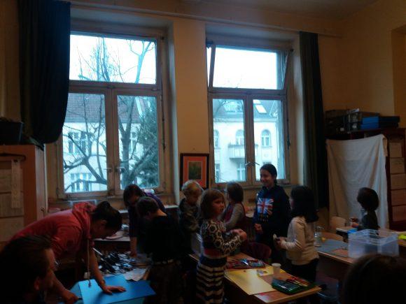 Bild eines Klassenzimmers