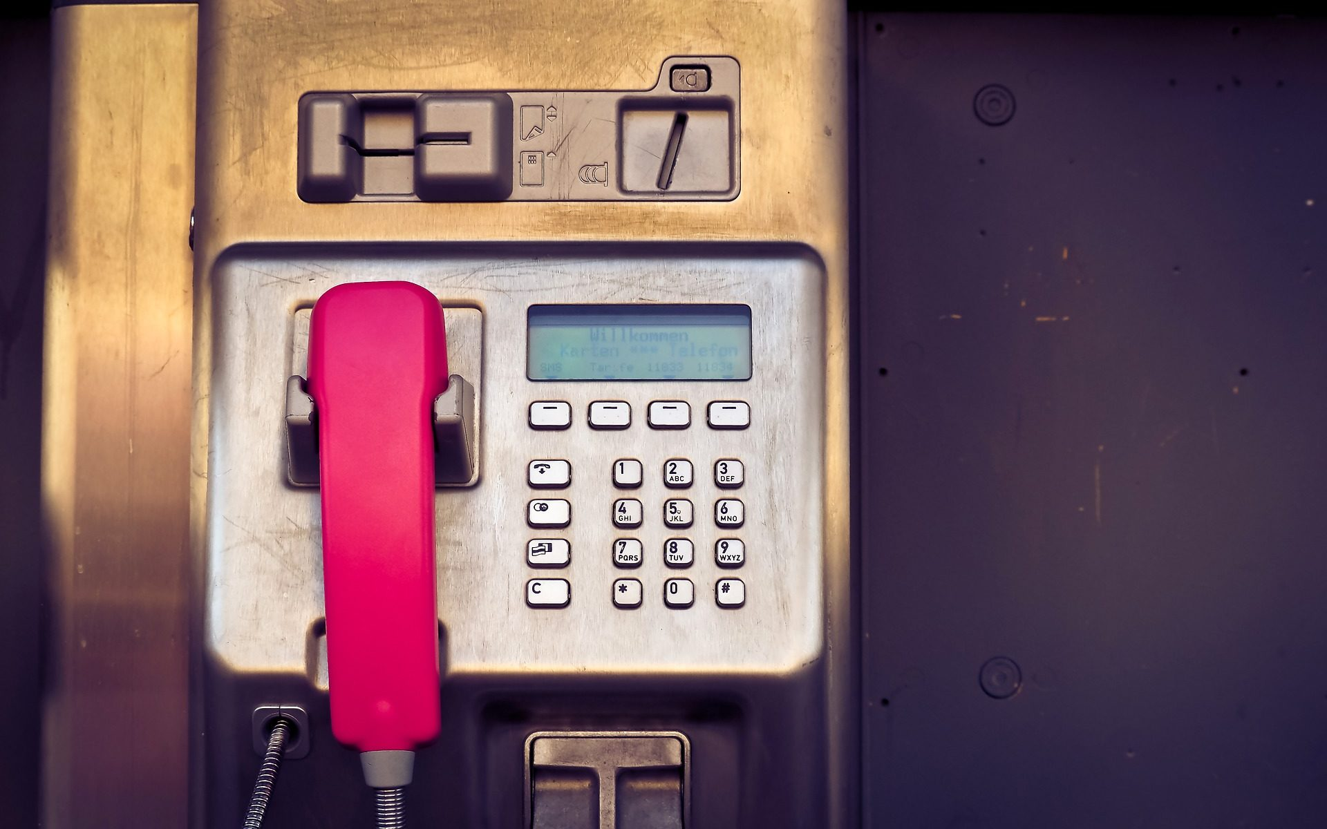 Foto eines öffentlichen Telefons